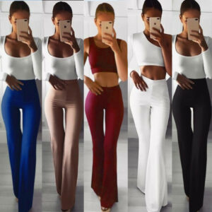 Palazzo Flared Wide Pants Elegant Lady Office Trousers