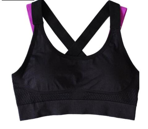 Breathable Top Cross Back Push Up Workout Gym Running Jogging Yoga Fitness Bra