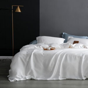 100% Tencel Lysell Solid Breathable Silky Soft Duvet Cover Set