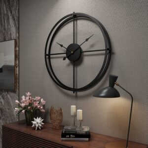 Creative Large Vintage Metal Wall Clock For Home Office Living Room Decor