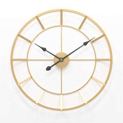 50/60cm Large Round Metal Silent Wall Clock For Home Office Decor European Style
