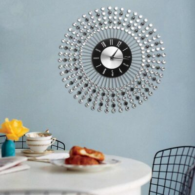 43CM Large 3D Diamond Living Room Decoration Wall Clock Crafts Ornaments Gift