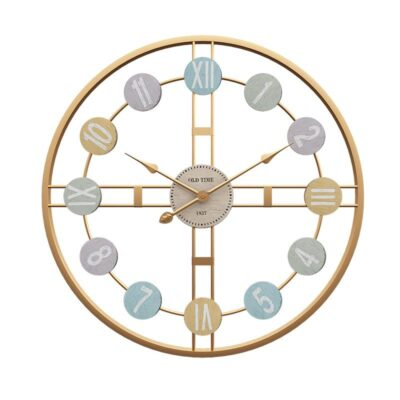 3D Retro Nordic Metal Roman Numeral Luxury Round Wall Clock For Home Bar Cafe