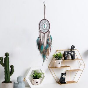 Handmade Led Dream Catcher With Feathers Night Light Room Decoration