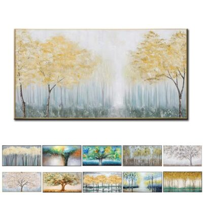 Unframed Gold Tree Canvas Oil Painting Artwork Wall Pictures