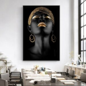 Black Woman Canvas Painting Scandinavian Wall Art Pictures Home Decor