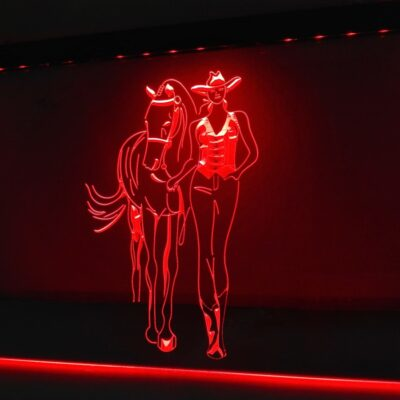 Western Cowgirls Horse Beer Bar LED Neon Light Sign Home Decor Crafts