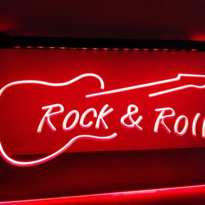 Rock And Roll Guitar Music NEW LED Neon Light Sign Home Decor Crafts