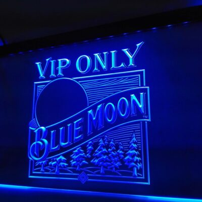 VIP Only Blue Moon Beer LED Neon Light Sign Home Decor Crafts