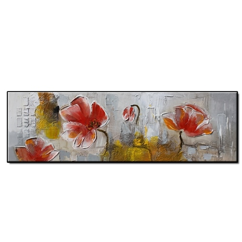 No Framed Handmade Flowers Landscape Oil Painting On Canvas Decoration