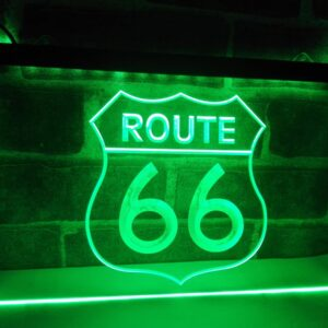 Historic Route 66 Mother Road LED Neon Light Sign Home Decor  Crafts