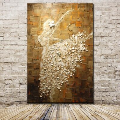 Ballet Dancer Picture Handmade Oil Paintings On Canvas Home Decoration