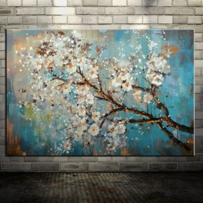 Handmade Flowers Tree Oil Painting On Canvas Home Decoration