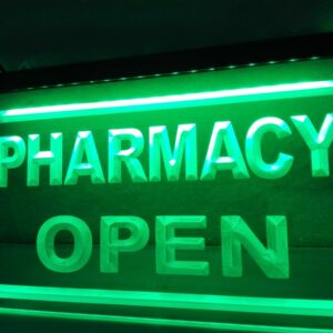 Pharmacy Drug Stores Display OPEN NEW Light Sign Home Decor Crafts