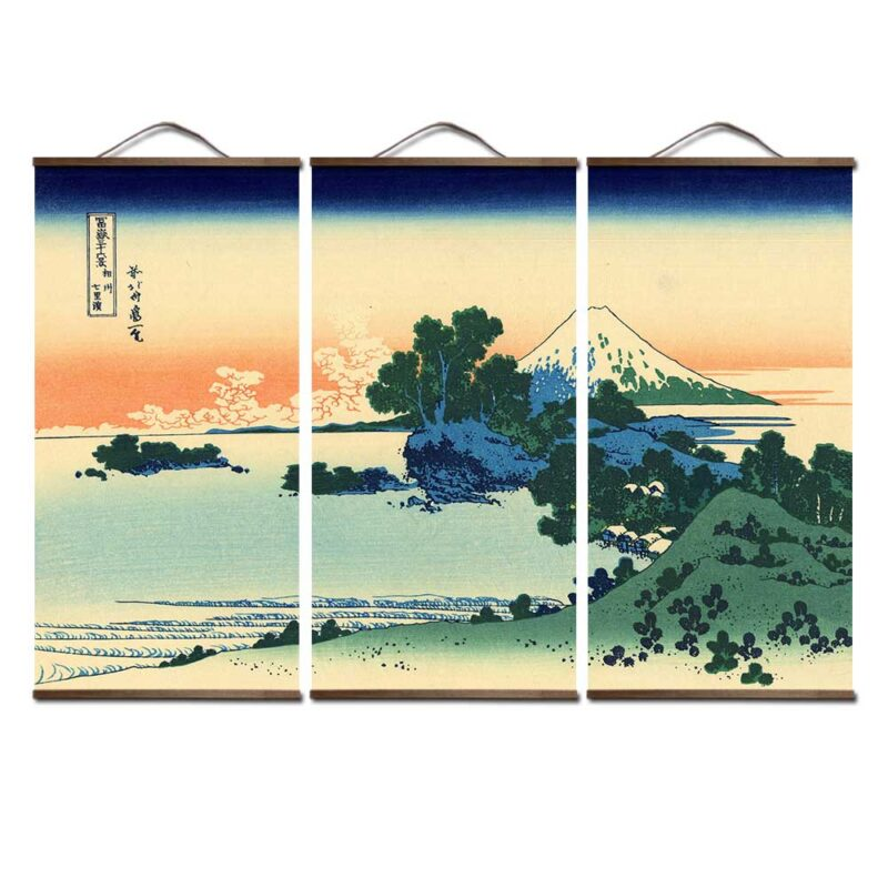 Japanese Style Surf Canvas Art Painting Wall Pictures For Living Room